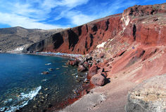 Red beach, Santorini Stock Photos