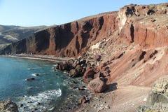 Red Beach Santorini Stock Photos
