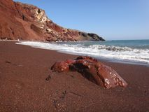 Red Beach Stock Photography