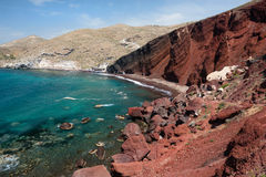 Red beach, Santorini, Greece Stock Photo