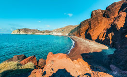 Red Beach on Santorini Greece Royalty Free Stock Photography