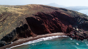 Red beach, Santorini, Greece Stock Photography