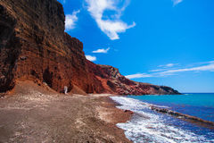 Red beach in Santorini, Greece Royalty Free Stock Photography