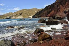 Red Beach, Santorini Royalty Free Stock Photo