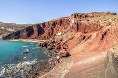 Red beach, Santorini, Greece Royalty Free Stock Photography