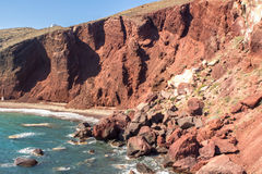 Red beach, Santorini, Greece Stock Photos