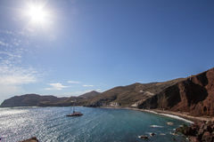 Red beach, Santorini, Greece Stock Images