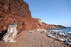 Red beach, Santorini Greece Stock Photography