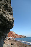 Red beach, Santorini Greece Royalty Free Stock Images