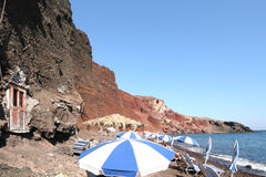 Red beach, Santorini Greece Stock Photos