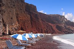 Red beach. Santorini, Greece Royalty Free Stock Photography