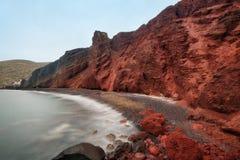 Red Beach Santorini Greece taken in April 2018. Taken in April 2018 post processed in HDR stock photos