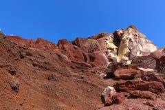 Red Beach, Santorini Stock Images