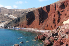 Red Beach, Santorini Royalty Free Stock Images