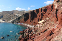 Red Beach, Santorini Royalty Free Stock Photos