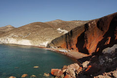 Red beach - Santorini Island Royalty Free Stock Photos