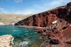 Red beach, Santorini island, Greece Royalty Free Stock Image