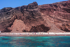 Red Beach Santorini Royalty Free Stock Image