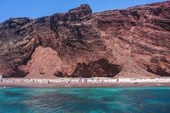 Red Beach Santorini Royalty Free Stock Image