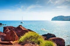 Red Beach on Santorini island, Greece. Stock Photography