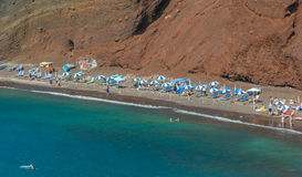 The Red Beach on Santorini island, Greece Royalty Free Stock Images