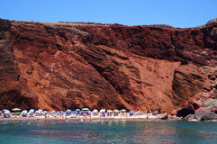 Red beach of Santorini island, Greece Stock Photos