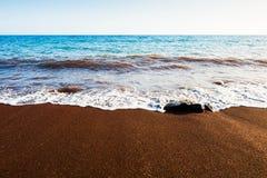 Red beach on Santorini island, Greece Royalty Free Stock Photos