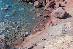 Red Beach Santorini Royalty Free Stock Photo