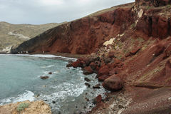 Red Beach of Santorini Royalty Free Stock Photos