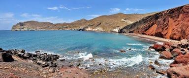 Red Beach, Santorini Stock Photos