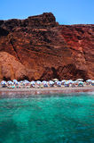 Red beach of Santorini Stock Photography
