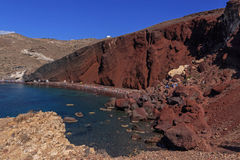 Red Beach on Santorini Royalty Free Stock Images
