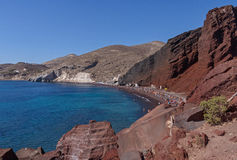 Red Beach on Santorini Royalty Free Stock Image