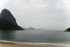 Red beach and Sugar Loaf Royalty Free Stock Photo