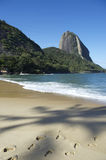 Red Beach Sugarloaf Mountain Rio de Janeiro Brazil Royalty Free Stock Image