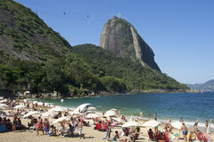 Red Beach Sugarloaf Mountain Rio de Janeiro Brazil Stock Photo