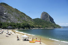Red Beach Sugarloaf Mountain Rio de Janeiro Brazil Stock Image