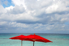 Free Red Beach Umbrella Royalty Free Stock Images - 7133949