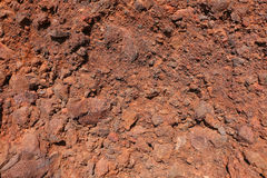 Red Beach wall texture, Santorini Stock Photo
