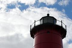 Red beacon stock photography