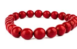 Red beads Royalty Free Stock Images