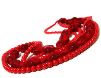 Red beads Royalty Free Stock Photography