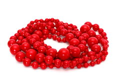 Red beads Stock Image