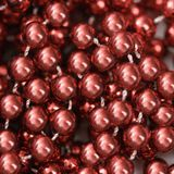 Red beads. Stock Photo