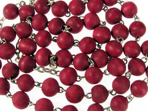 Red beads Royalty Free Stock Photos