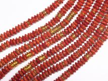 Red Beads chain Royalty Free Stock Photos