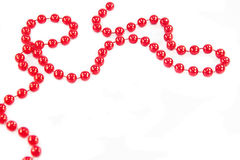 Red beads garland Royalty Free Stock Photos