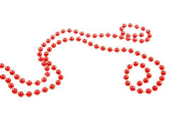 Red beads garland Stock Images