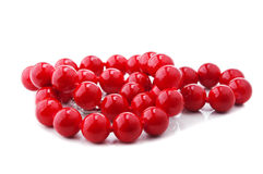Red beads isolated Royalty Free Stock Images