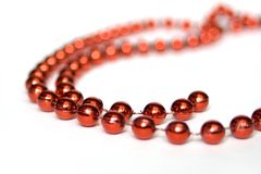 Red beads isolated on white Stock Images